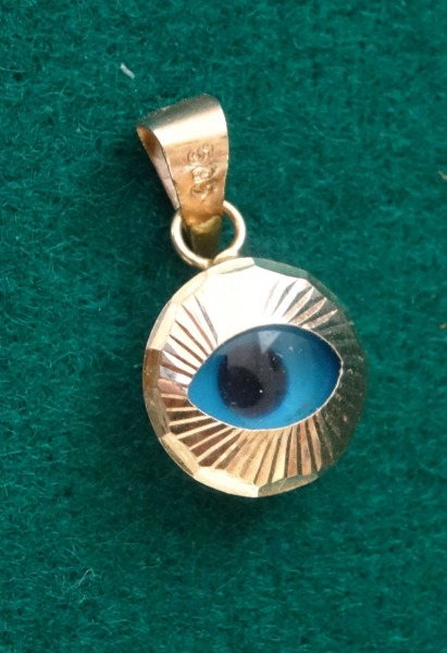 Gold Pendant - Eye