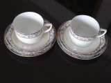 Kuznetsov tea cups with saucers