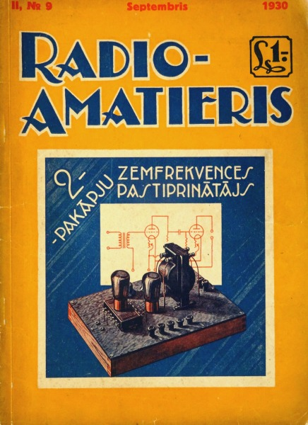 Radio amateur magazine Nr. 9, 1930
