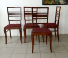 Art Deco oak chairs 1930ies, 4 pcs.