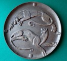 Decorative wall plate - Two panthers