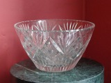 Fruit crystal bowl. h 11 cm; diam. 20 cm