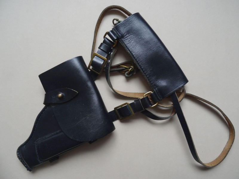 Leather Gun Bag. USSR Marine Officer
