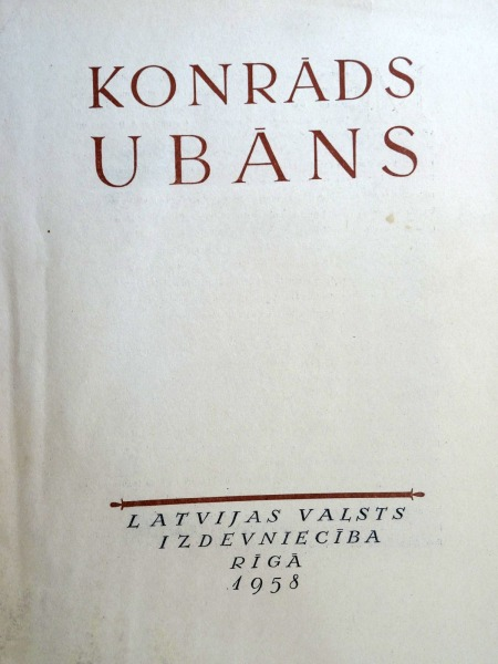 Konrāds Ubān - reproductions folder. Latvian State Publishing House, Riga, 1958