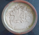 "Decorative plate ""Fair"". Ceramics, diam. 23.5 cm"