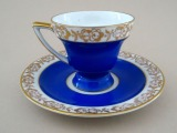 "Kuznetsov in Latvia - Cup with a saucer ""Pair for mocha"""