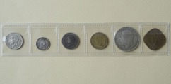 Coin Set 6. pcs. One coin is silver