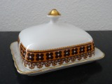 RPR - Butter tray. Porcelain, decoration, gilding, 1970s, 9x15,5x13 cm