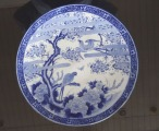 Porcelain plate with birds. China, 19th century., diam. 40,4 cm; h 5.5 cm