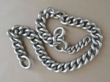 Silver chain. 84 purity, 112.05 g.