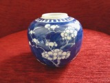 Vase with cherry blossoms. Handmade, China, porcelain, h 10 cm