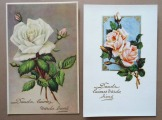 Greeting Cards 1930ies, 2 pcs.