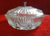 Sugar bowl. Crystal, 1930s, h 8 cm