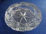 Crystal ashtray, dia. 19 cm
