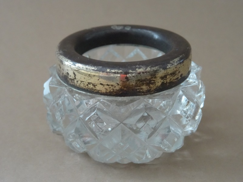 Crystal vase with silver border, 875 purity