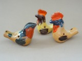 Whistles 3 pcs., cock and whistle. Ceramics, author's work