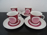 Winterling - Mocha set for 4 persons, Porcelain
