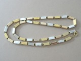 Necklace, gold plated steel, length 59 cm