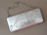 Silver bag. Purity 875, 286 grams, 1932, initials J.B.