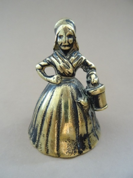 Bell - Lady with a bucket. Bronze, England