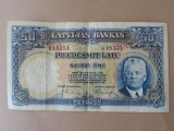 50 lats banknote. Bank of Latvia 1934