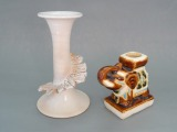 Author's work two candlesticks, ceramics