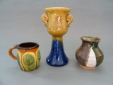 Candlestick, vase and jug
