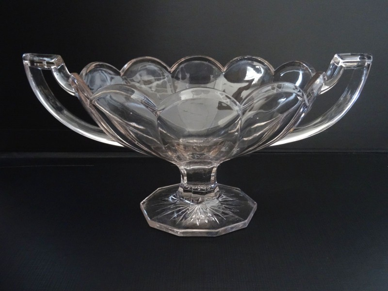 Vase with handles, glass, End of 19th century, h 20 x 33.5cm