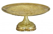 Fruit bowl, gilded bronze, d 32.5 cm; h 14.5 cm