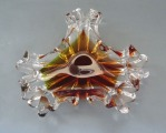 Ashtray, glass, d 16.5 cm h 5.5 cm