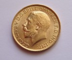 1913 GOLD Coin sovereign GEORGIVS V D.G. BRITT OMN REX F.D. IND:IMP: weight 8.g.