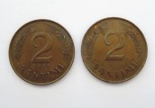 2 santims 1939, 2 pcs.