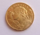 Coin, Switzerland, 20 Francs, 1930, Berne, Gold, KM:35.1 weight 6.45 g.