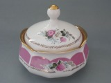 Porcelain dish with lid, Germany h 14 cm, d 15 cm