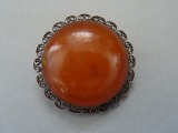 Amber brooch in silver frame 8.76 gr., 875 purity