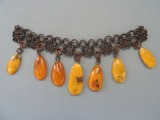 Chain with amber pendants 17.7gr.