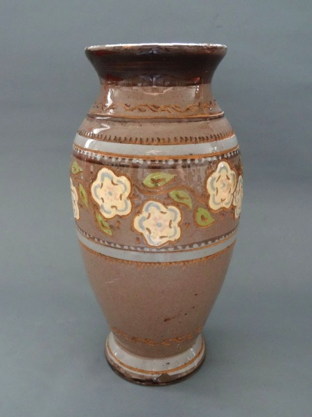 Ceramic vase, 1950s, h 26.5 cm with small, defects