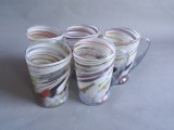 Livani glass factory - cups, 5 pcs. h 9.5 cm