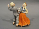 Folk dance, porcelain, Riga, high class, h 13.5 cm