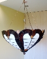 Chandelier with stained glass