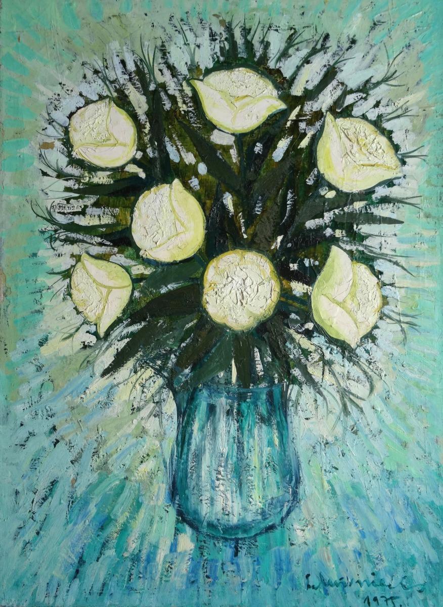 White Flowers Murnieks Laimdots Classic Art Gallery Antonija