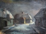 Country farm at winter