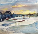 Spring thaw on the Daugava