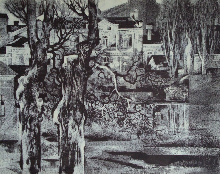 Houses and trees