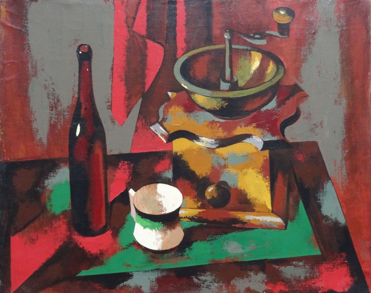Still life with coffee grinder