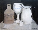 Still life with a white jug