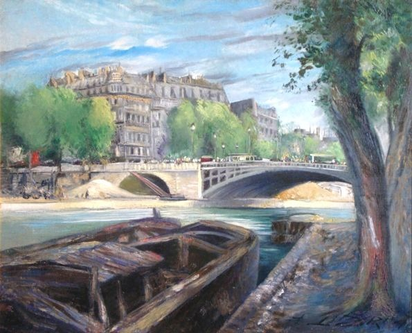 Seine embankment in Paris