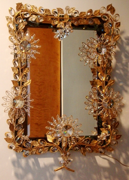 Mirror with Swarovski crystals